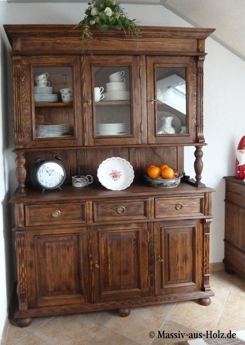 Landhaus Buffetschrank groß 3-türig mit 3 Schubladen