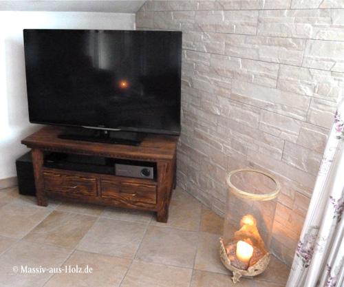 Landhaus Fernsehschrank mit 1 Schubladen