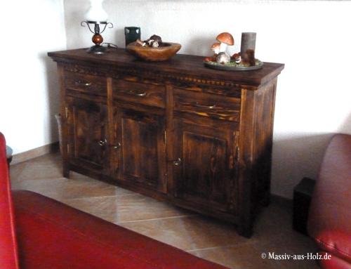 Landhaus Anrichte 3-türig mit 3 Schubladen