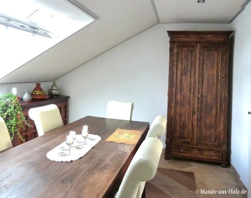 Landhaus Wohnzimmerschrank 2-türig mit 2 Schubladen