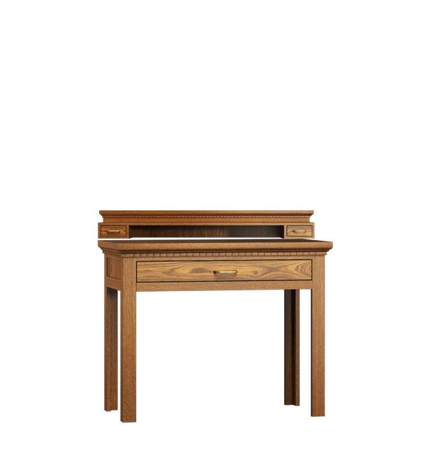 Konsolentisch mit Aufsatz klein aus massivem Holz