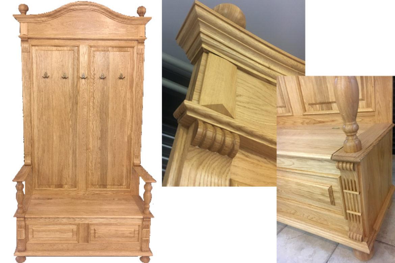 Garderobe Holz Massiv ~ Nicht alltägliche wandgarderobe aus eiche massiv aus holz