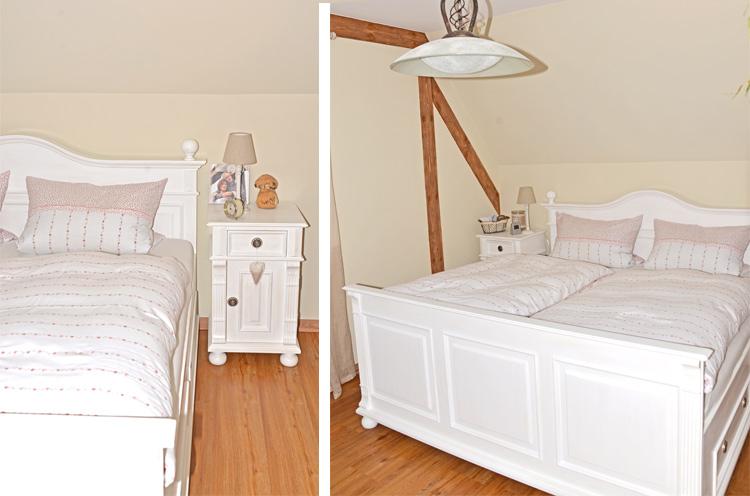 Weisses Schlafzimmer aus Massivholz