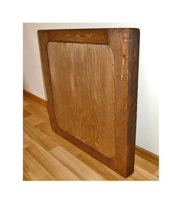 Holz Fotorahmen gross naturbelassen rustikal antik gebürstet