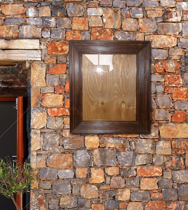 brauner Bilderrahmen Holz natur rustikal