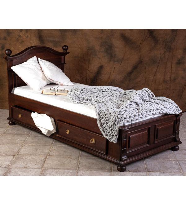 Betten mit Schubkasten - kirschfarben dunkelrot kolonial