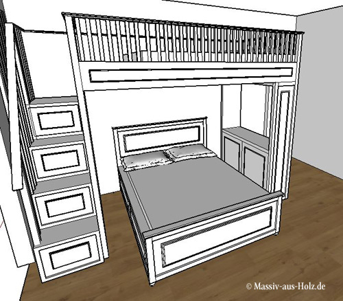 hochbett setzt neue ma st be im kinderzimmer massiv aus holz. Black Bedroom Furniture Sets. Home Design Ideas