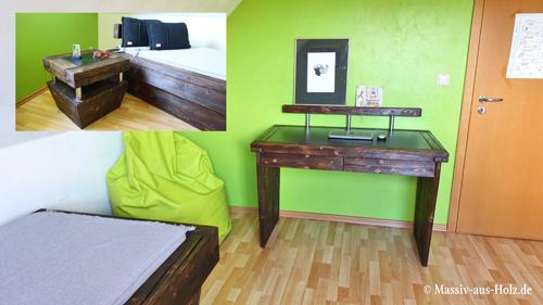 Jugendzimmer - modern im Urban Look eingerichtet