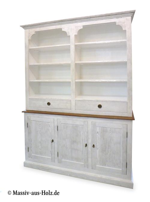 Küchenschrank mit offenen Fächern für Bücher