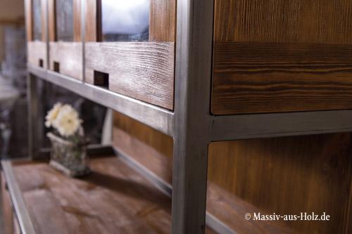 Küchenbuffet Industrian Style - Mix aus Holz und Metall