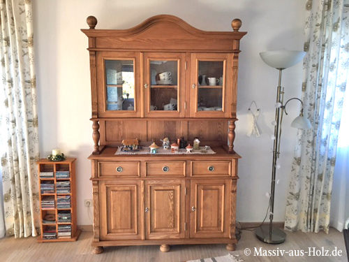 Buffetschrank in Naturwachs in Cottage Style