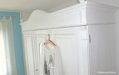 Weißer Kleiderschrank VEDENE 3-türig mit Spiegel
