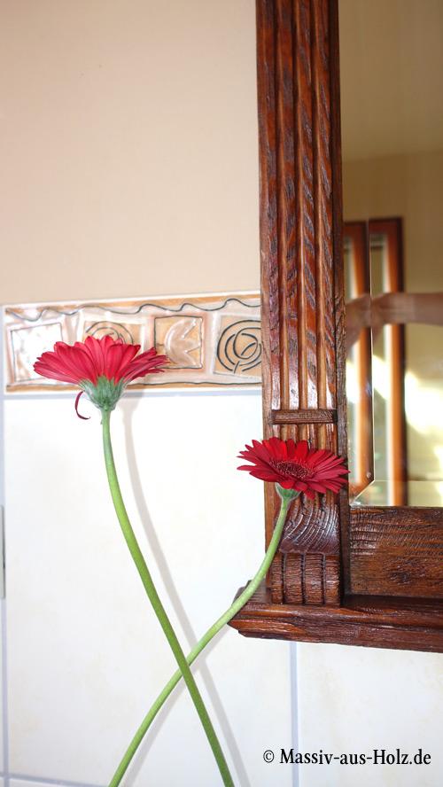 Holzspiegel im Landhausstil in Antik dunkel
