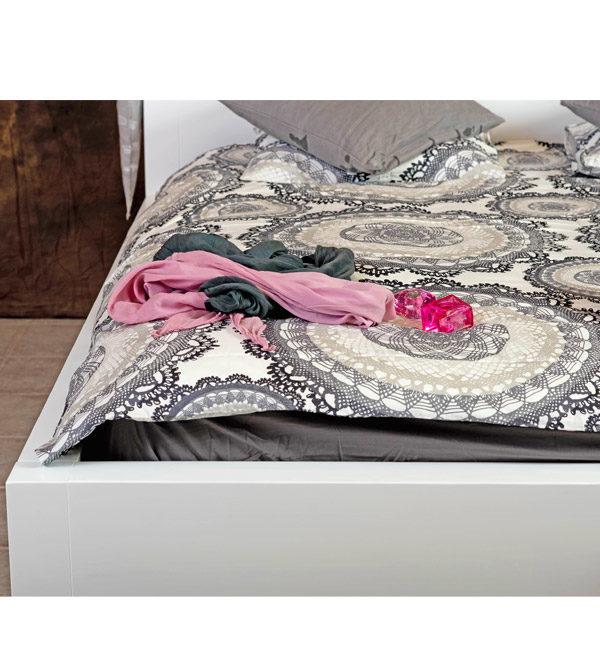 Weiße Kiefernholz Betten mit Schubkasten