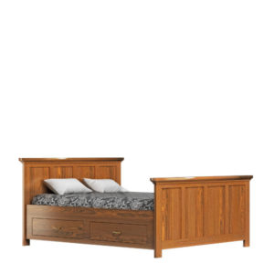 Bett 120x200 cm mit Schubladen optional aus massivem Kiefernholz