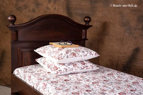 Landhausbett Einzelbett 90x200 cm mit Schubladen
