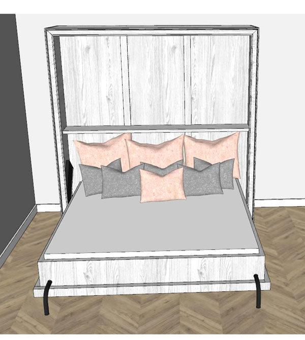 Doppelbetten als Schrankbett in allen Größen von 90 bis 200 cm