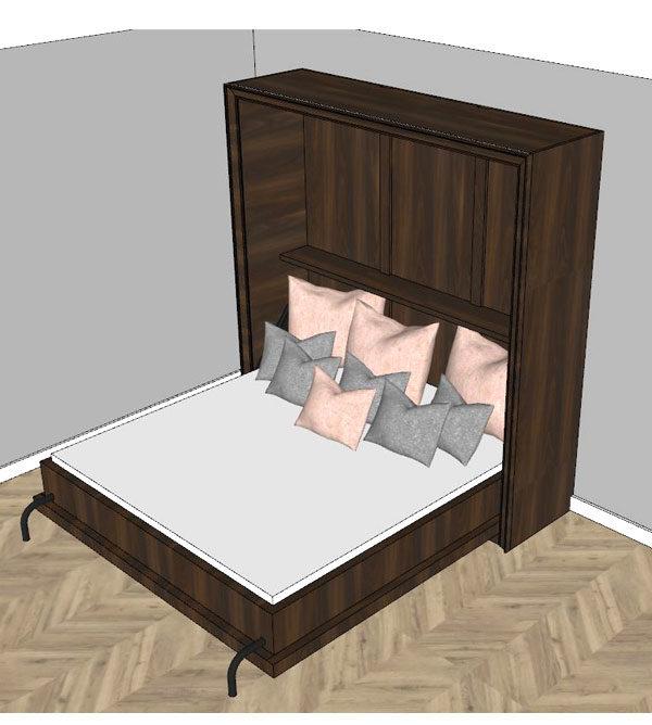 Große Schrankbetten aus Holz, hochwertige Anfertigung nach Maß