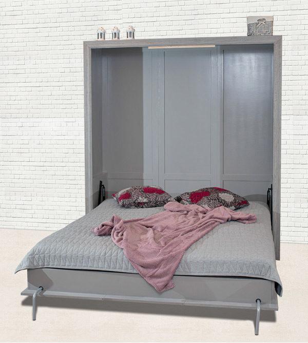 Modernes Schrankbett in Alt grau