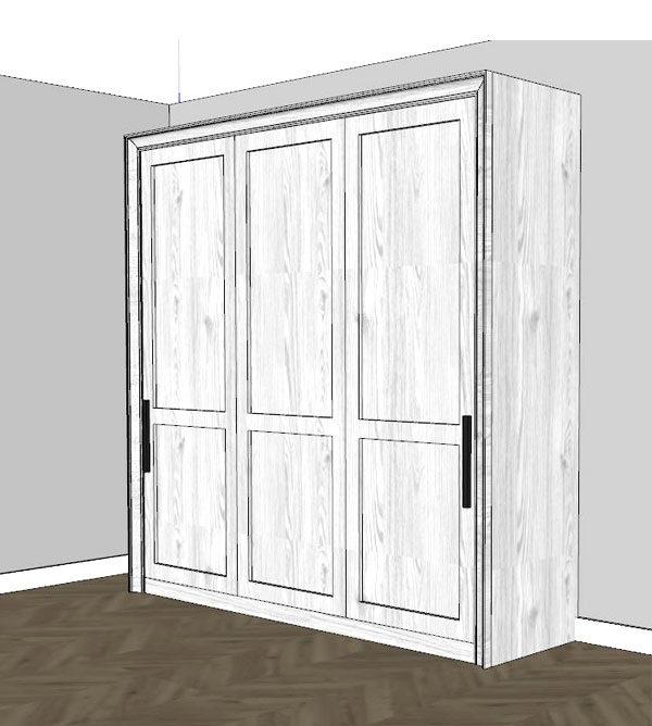 Schrankbett 160x200 cm schlicht - Doppelbett als Schrankbett
