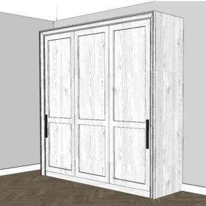 Schrankbett 180x200 cm schlicht - großes Wandbett im Zimmer