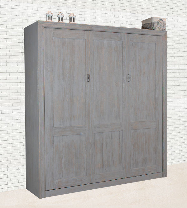 Schrankbett in Farbe Grau
