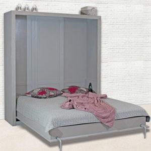 Schrankbett schlicht 100x200 cm modern