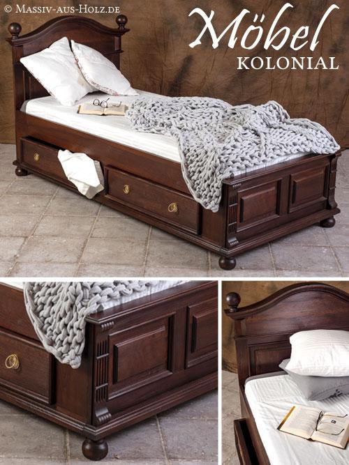 Bett-im-Landhausstil-kolonial-farbe-schubladen-Einzelbett