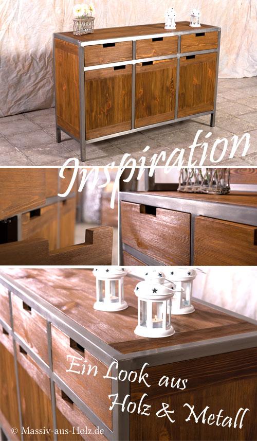 Mobel-im-Industriestil-Holz-rustikal-Metallrahmen-silber-schwarz
