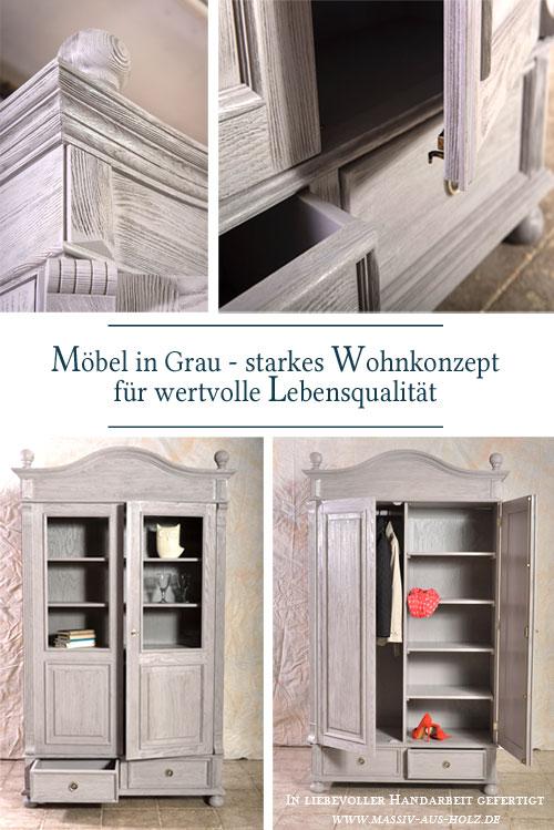 Schrank-im-Landhausstil-Vitrine-alt-grau-rustikal-geburstet