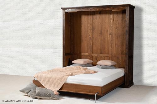 FAQ - Schrankbetten groß von 90 cm bis 200 cm - massiv Holz Kiefer, Eiche, Esche, Buche - antik dunkel