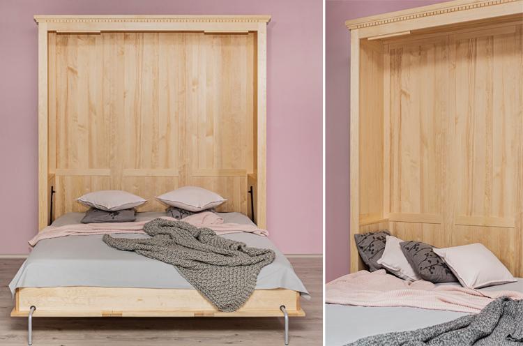 Bettschrank aus Holz massiv