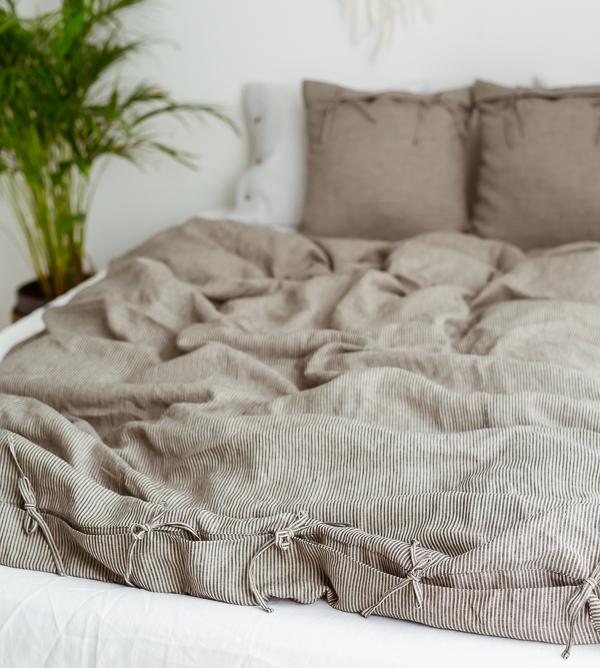 Bettbezug naturbeige-schwarz
