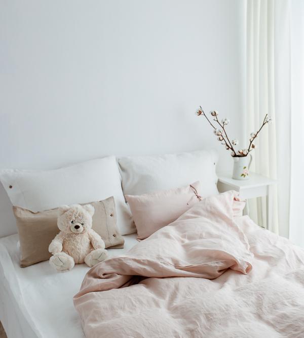 Bettwäsche Set aus Leinen