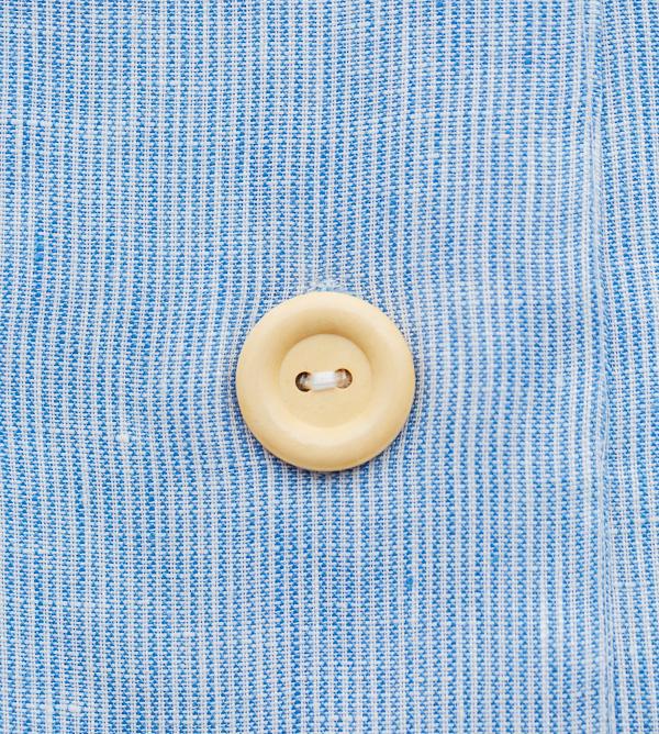 Holzknopf für Leinenbettwäsche