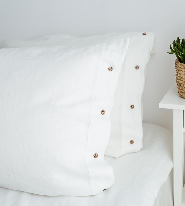 Kissen in Weiß