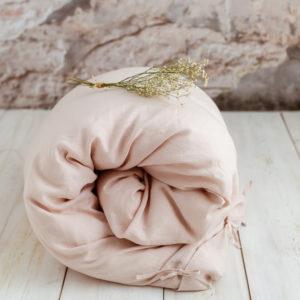 Leinen Bettwäsche in Zartrosa