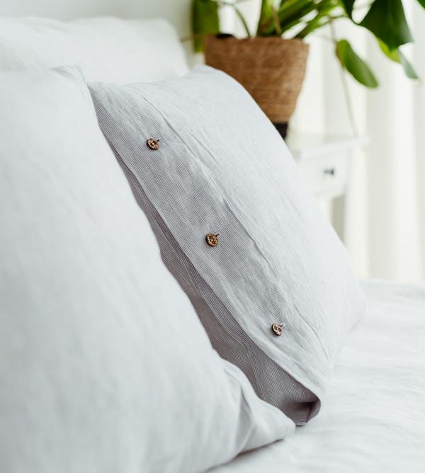 Leinen Kissenbezüge weiß
