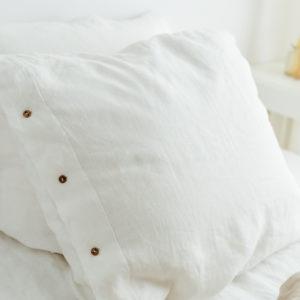 Kissenbezug in Weiß