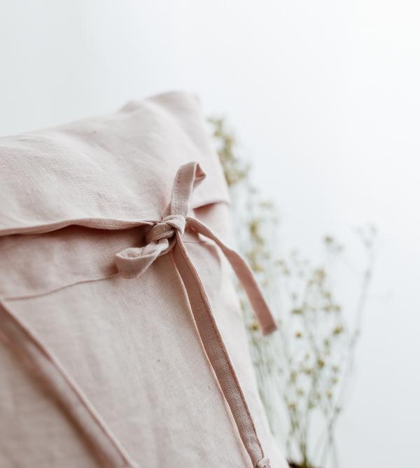 Leinen Wäsche in Zartrosa