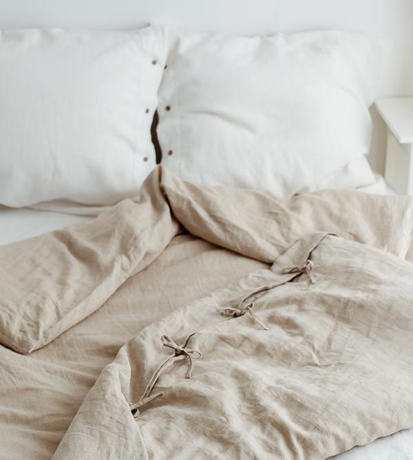 Naturleinen Bettwäsche