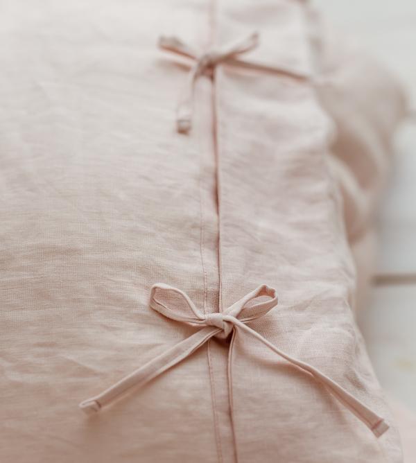 Bettwäsche mit Schleifen zartrosa