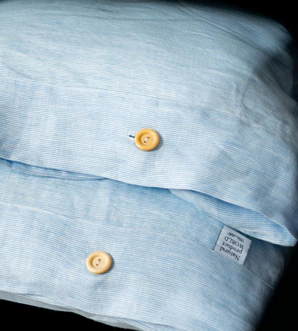 Leinen Kissenbezüge himmelblau