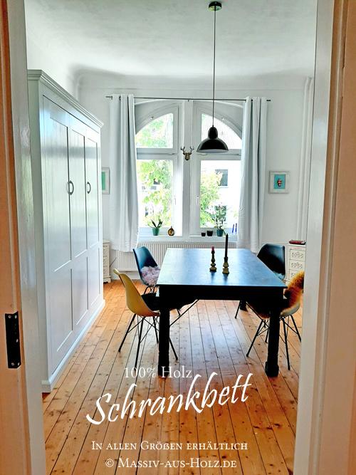 Skandinavisches Design - weißes Schrankbett