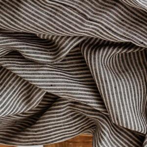 Bettlaken natur/schwarz gestreift