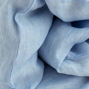 Kinder Bettlaken weiß/hellblau gestreift