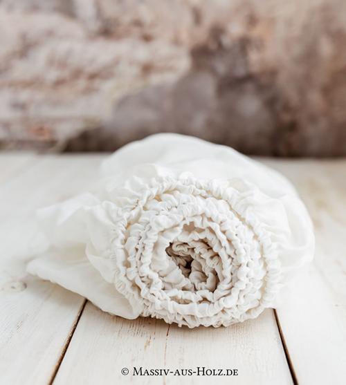 Weißes Spannbettlacken - schwitzfrei schlafen