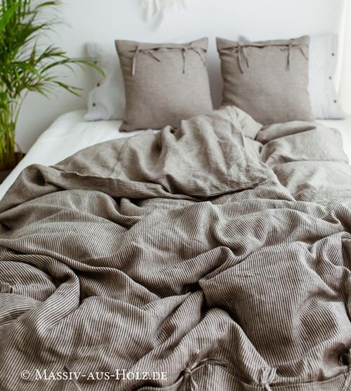 Leinen Bettwäsche hilft gegen nächtliches Schwitzen