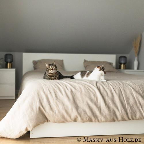 Bettbezug aus 100% Leinen grau